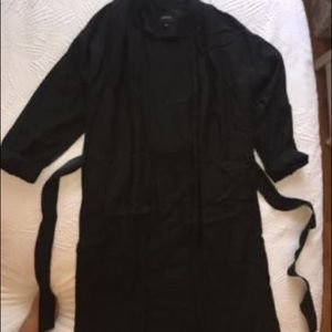 Babaton linen duster coat
